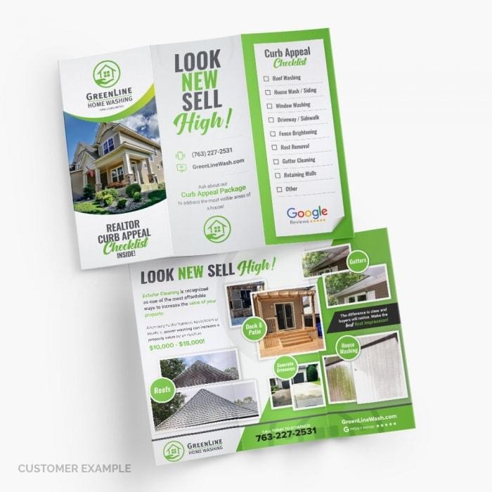 GreenLine Home Washing Brochure Design