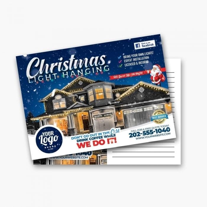 Christmas Light Hanging Service Postcard Prints